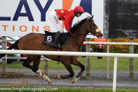 09th Our Sox ( 6 , red, yellow stars ) and P. Carberry - Trainer : A.J.Martin - Owner : Reddans Bar Syndicate
