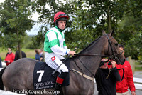 3rd No 7 Charms Bracelet (IRE) (1) - Jockey: L F Roche - Trainer: Ross O'sullivan - Colours: green, white chevron