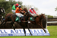 01st Sister Annie ( 12 , ehite, red sleeves ) and S.W. Flanagan - Trainer : John Laurence Cullen - Owner : Mrs Riona Molony