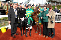 01st De Name Escapes Me ( 3 , orange and green hoops ) and M.P. Walsh - Trainer : Noel Meade - Owner : John P. McManus