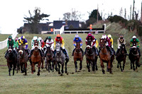 Dundrum (Centre Blue with orange hoops) Winner , Jockey B J Geraghty - FT8E9942-e
