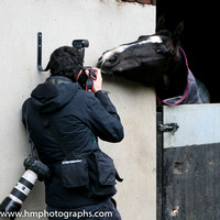 Don Cossack playing to the camera