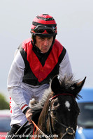 20th Royal Avatar ( 9 , black, red chevron ) and D N Russell - Trainer : D Kinsella - Owner : Donal Kinsella
