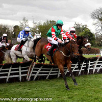09th Courtncatcher and C D Timmons ( 12 , green, red and white hooped sleeves ) Trainer - P J Duffy , Owner - Patrick J Duffy