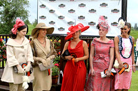 Five of the finalists in the Best Dressed Competion at Down Royal -FT8E5716-e