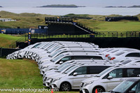 Mercedes Courtesy Cars lined up at Royal Portrush awaiting the start of the Open Championship - AA1V7092-2
