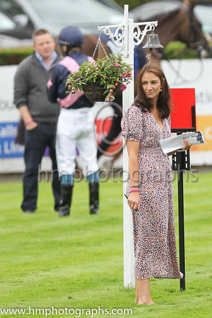 Susan McCartne,y Hospitality Manager at Down Royal organising things in the parade ring on BoyleSports Derby Day