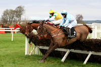 01st Arahecan and Rachael Blackmore ( 1 , light blue, pink chevrons ) Trainer - H De Bromhead , Owner - R S Brookhouse