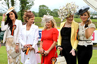 Five of the finalists in the Best Dressed Competion at Down Royal -FT8E5719-e