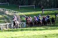 Call Box (3 black hat) & Mr B G Crawford - Winner - in centre of field - FT8E9821-e