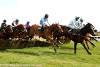 03rd Areema ( 10 , light blue, three black spots ) and D.E. Mullins - Trainer : I. R. Ferguson - Owner : W. Porter