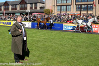 Ian Ferguson and Keep On Track (4) in the parade ring at Punchestown