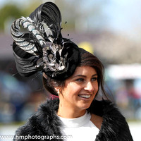 Kirsty Farrelll from Newry County Down winner of the Best Dressed Lady on Day 1 of Punchestown Festival