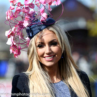 Rosanna Davison judge of the Best Dressed Lady Competition on Day 1 of Punchestown Festival