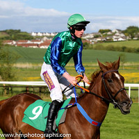 08th Celtic Passion ( 9 , light green, blue sleeves ) and M.P. Fogarty - Trainer : Colin Bowe - Owner : Brendan A. Murphy