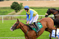 Fell Myles Ahead and D N Russell ( 3 , yellow, royal blue seams ) Trainer - T M Walsh , Owner - Henry McCourt