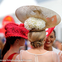 Hats at the Curragh on Irish Derby Day