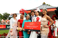 Lorraine O'Sullivan (2nd from right) from Limerick winner of the Dubai Duty Free Most Stylish Lady in association with Boodles competition at the Irish Derby at the Curragh