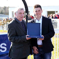 Hurricane Fly Presentation - Peter G Stewart Chairman of Downpatrick Race Club & Peter Creighton grandson of the the owner  - CU2D6934-13
