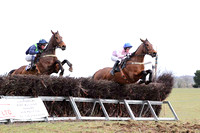 02 Wither Yenot & P E Turley - 2nd (16, dark blue, emerald green chevrons ) & 01 El Grande & J E Flynn - Winner (10, pink, white hoop) -  - CU2D6809-41