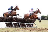 02 Wither Yenot & P E Turley - 2nd (16, dark blue, emerald green chevrons ) & 01 El Grande & J E Flynn - Winner (10, pink, white hoop) -  - CU2D6810-42