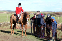 East Down Huntsman Declan Feeney and supporters at Tyrella Point to Point Steeplechases