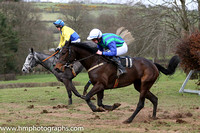 CITY BREAK and A J Fox ( 11 ,Antrim (H)?- DARK BLUE  EMERALD GREEN STRIPES; dark blue sleeves; white cap ) Trainer: Ann Hunter,, Owner : Ann Hunter