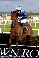 02nd James and R A Doyle ( 4 , dark blue, light blue epaulettes ) Trainer - I R Ferguson , Owner - Mrs R J Love