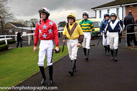 Danny Mullins, Robbie Colgan, Donagh Meyler, Ricky Doyle, Dennis O'Regan on the way to the parade ring at Down Royal for the second race