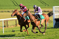 01st Fly Rory Fly and S W Flanagan ( 3 , pink, black chevron ) Trainer - N Meade , Owner - Eamon McElroy  Mrs Paul Shanahan  Mrs John Magnier