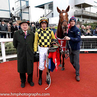 01st Melon and Ruby Walsh (2, yellow and black check) Trainer w P Mullins , Owner Mrs J Donnelly