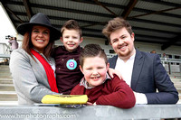 Emma Mullen, Daithi and Darra Neary and Miceal Mullen at Downpatrick Races