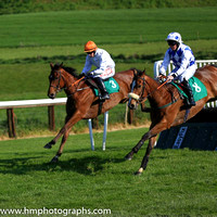 11th King Of Scotland and M F Mooney ( 8 , blue and white diamonds ) Trainer - Mrs A Mooney , Owner - J McCaghy