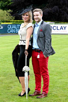 Claudine Quinn from Newry - winner of the Best Dressed Competition at Down Royal and boyfriend Paul Cooney - FT8E5886-e2