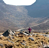 Charlene Haugh on a training run up the Trassey Track towards the Hare's Gap in the Mourne Mountains -_MG_1256-e2