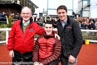 Turf Club Doctor Adrian McGoldrick, Jonjo Bright and Barry Geraghty at Down Royal