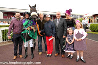 01st Odit and D E Mullins ( 6 , purple and emerald green check ) Trainer - Ms M Mullins , Owner - Liam Kerrigan