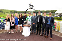 Family of the late Dr E F Logan OBE and winning jockey Donagh Meyler in aht eparade ring at Downpatrick Racecourse after Dr E F Logan OBE Memorial Handicap Steeplechase.