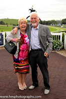 Mabel and Norman Richmond at Downpatrick Racecourse Ladies Day Meeting.Mabel is a cousin of the late Dr E F Logan OBE.
