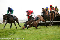 06 Tyrone House and Mr M Watson - - 06th (1 ,blue, green sleeves ) Trainer - R K Watson  08 Kerrib Castle and Mr M McConville - F - 08th (3 ,red and white stripes ) Trainer - Stephen McConville