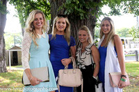 Melanie Young, Chloe O'Flynn, Michelle Kenny and Jane Hannigan at Irish Champions Day at Leopardstown